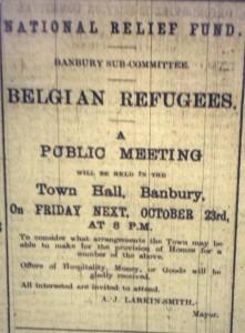 Banbury Committee for relief of Belgians Ad - 22 October