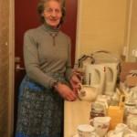Dottie making tea