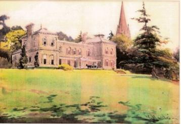 Watercolour of Bitham Hall